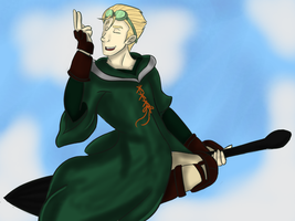 Quidditch Draco by AngelKittyChan