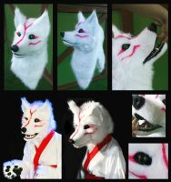 Okami - Amaterasu fursuit mask by MWmagic