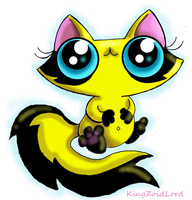 Funny cat yellow racoon by KingZoidLord