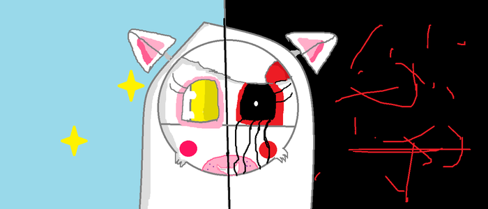 Evil Funtime Foxina And Good Funtime Foxina by funtimefoxylover