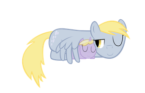 Derpy and Dinky Nap by GeoNine
