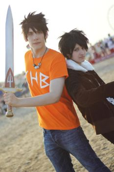 Heroes Of Olympus ~ Percy and Nico by Yamato-Leaphere