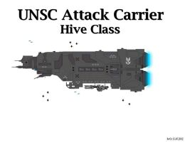 UNSC Attack Carrier - Hive Class by Seeras
