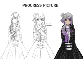 Sword Art Online OC // Hysic - Progress Picture by Lilith-N-Black