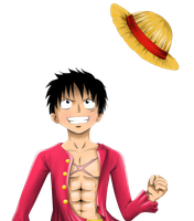 Luffy with hat by Sunny-berry