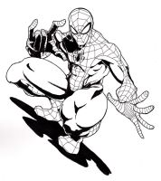 Spider-Man ink by jjakec