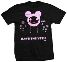 Tees Yeti pink by cryingsoul86