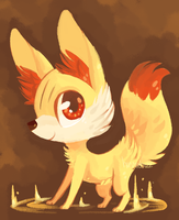 fennekin by hunniebuzz