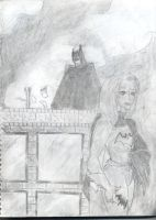 Batman and Batgirl by fmvra1s