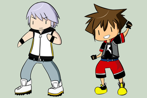 Riku and Sora Sticker Set by WaywardDoodles