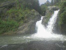 Small falls in Sagada by Madette
