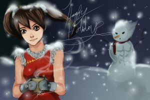 Xiaoyu  Christmas by kawaii-chibi-kotou
