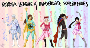 The Konoha League of Inadequate Superheroes by Equestrian-Equine