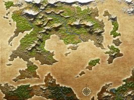 Blank Map of Fantasy world 2 by Sedeslav