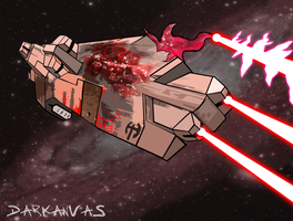 Homeworld: Beast Heavy Cruiser by Darkanvas