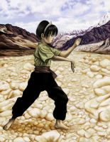 Toph in the Desert by hypercrabby