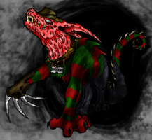Freddy Hellhound Colored 2 by xEvilxPenguinxNinjax