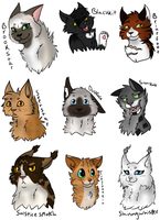TFC cat headshots page 1 by CatPuff