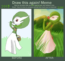 Before and After: Gardevoir by Kalinel
