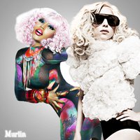 Lady Gaga and Nicki Minaj by Murlinx
