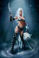 Guardian of the white wolf by royo12