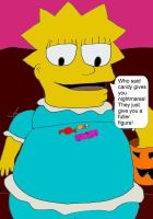 Lisa Simpson Stuffing Candy by andynortonuk