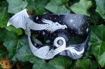 White Dragon Half Mask by merimask