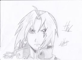 Edward Elric (Serious) by HybridzHD