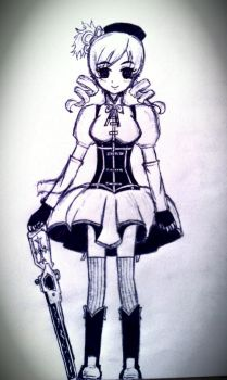 She will make you headless...~Mami Tomoe WIP! by LadyEdile