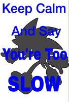 Keep Calm And Say YOU'RE TOO SLOW by animorphs5678
