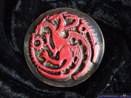 Game of Thrones fridge magnet - House Targaryan by FireVerseCeramics
