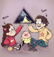 Supernatural  gravity falls 2 by dragon-flies