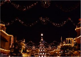 Main Street celebrates Christmas by Cassiopeeh