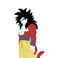 Super sayian 4 goku by TehpandahxD