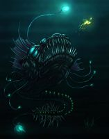 angler dragon fish concept by vic55b