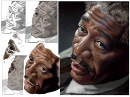 MORGAN PORTRAIT process by CrisDelaraArt