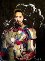 Iron Man (Oil Pastel) by sub1819