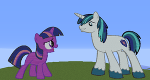 Twilight and Shining Armor PixelArt by SixSamMaster