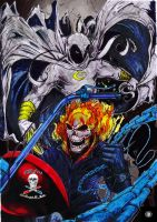 Ghost Rider Moon Knight colab by CDL113