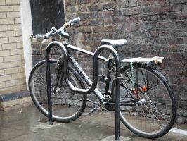 Freezing bike. by asaluiphotography