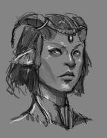 The Goat Queen Sketch by Olieart