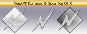 WinAmp Platinum and Glass OS X by Steve-Smith