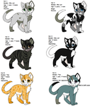 Free warrior adoptables CLOSED by Fred50208