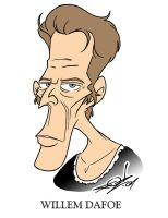Willem Dafoe Caricature by JayFosgitt