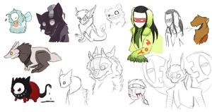 character sketches by blinding-eclips
