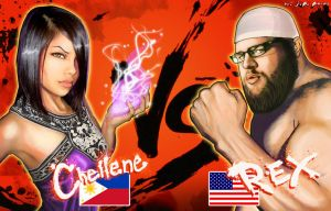 Chellene vs Rex by jpzilla
