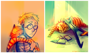 Doctor Calvin and Mister Hobbes by forgottenpantaloons