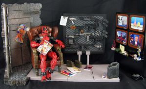 Deadpool diorama base 1 by Jin-Saotome