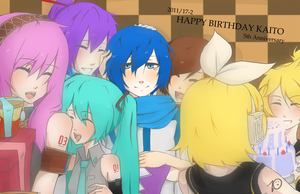 Vocaloid:Happy Birthday:KAITO by nekodoru