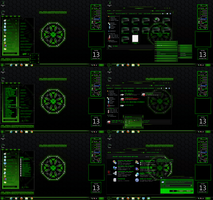 windows 7 themes alien corp. red (corner menu) by tono3022